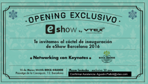 Invitacion Coctel eShow by VTEX Cloud Omnicommerce Software
