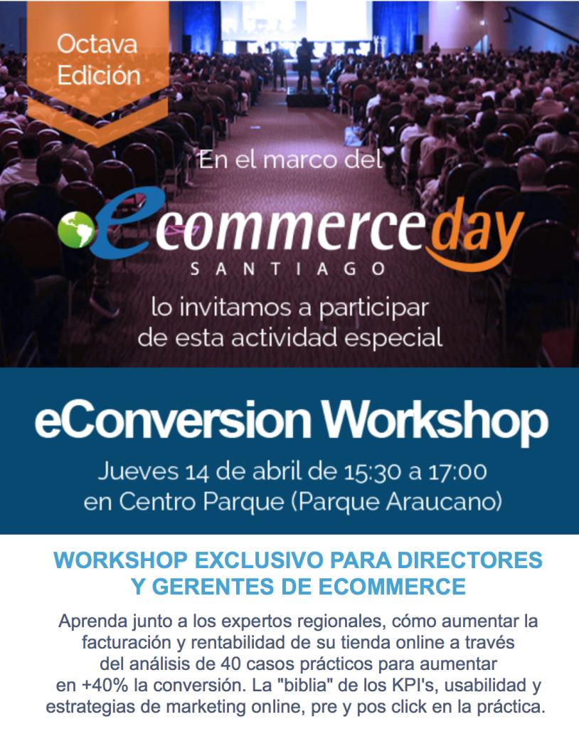 Workshop eConversion Chile 2016 :: Clinicas Intensivas de Aumento de Conversion