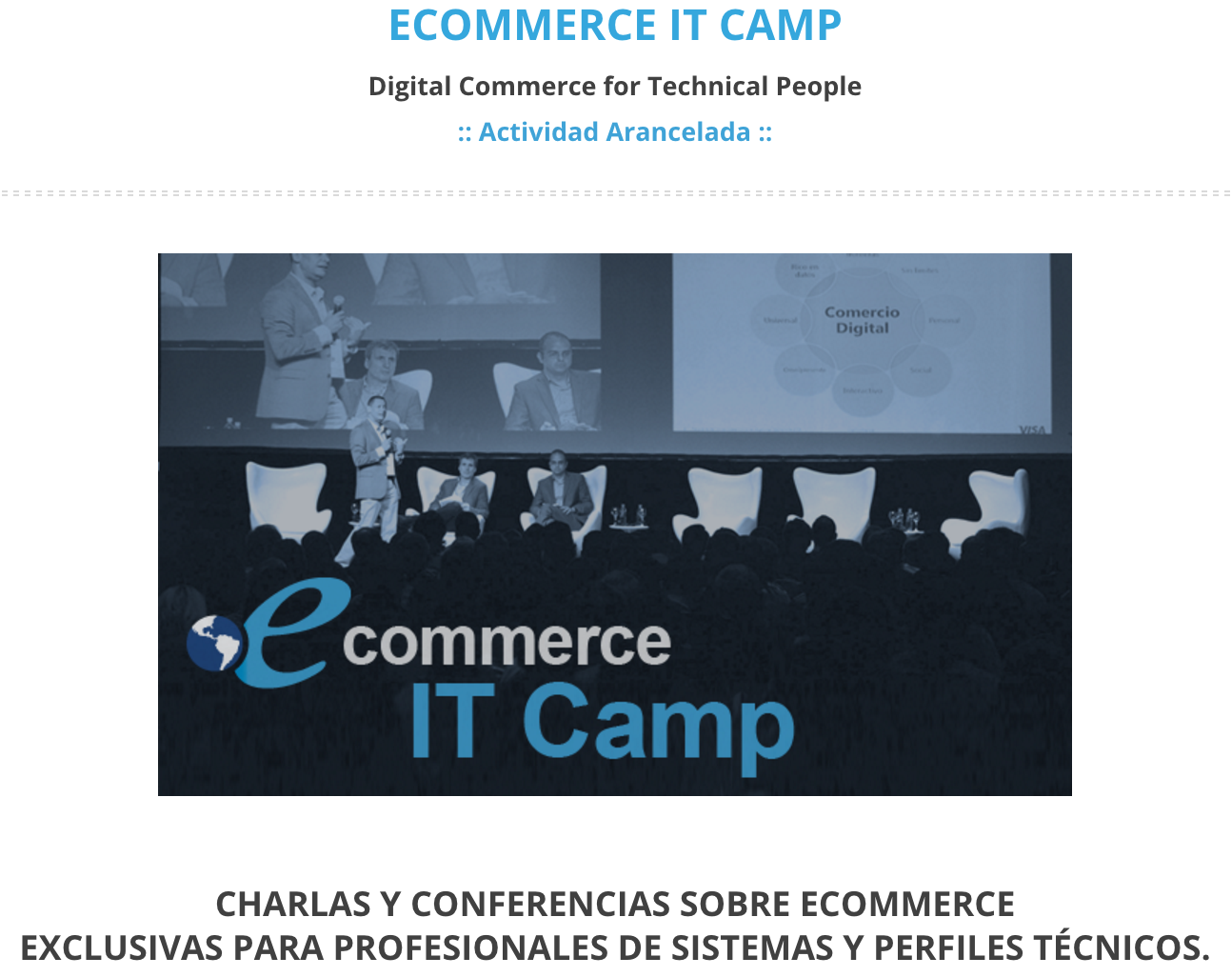 Se viene la primer edicion del eCommerce IT Camp