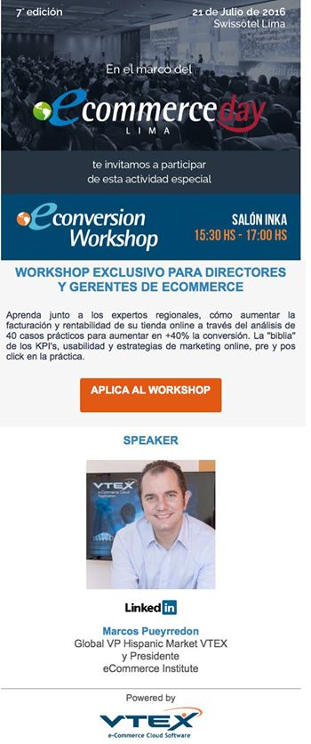 eConversion Workshop Peru