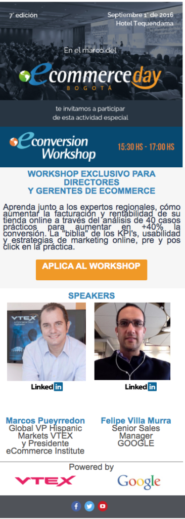eConversion Workshop Colombia 2016