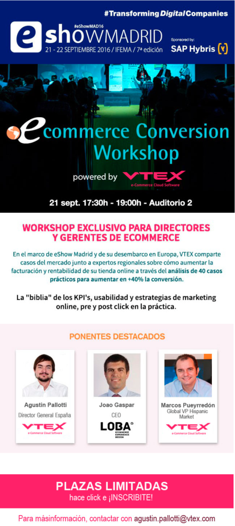 eConversion Workshop Spain