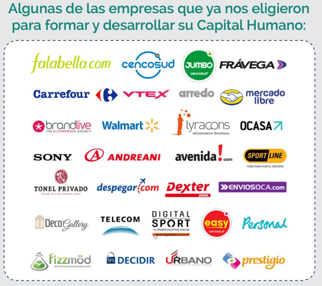 Empresas que apoyan y forman su capital humano en el Programa Ejecutivo de Retail eCommerce