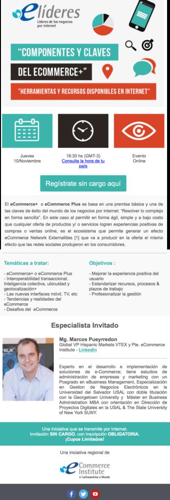Webinar Componentes y Claves del eCommerce+ Herramientas y Recursos disponibles en Internet