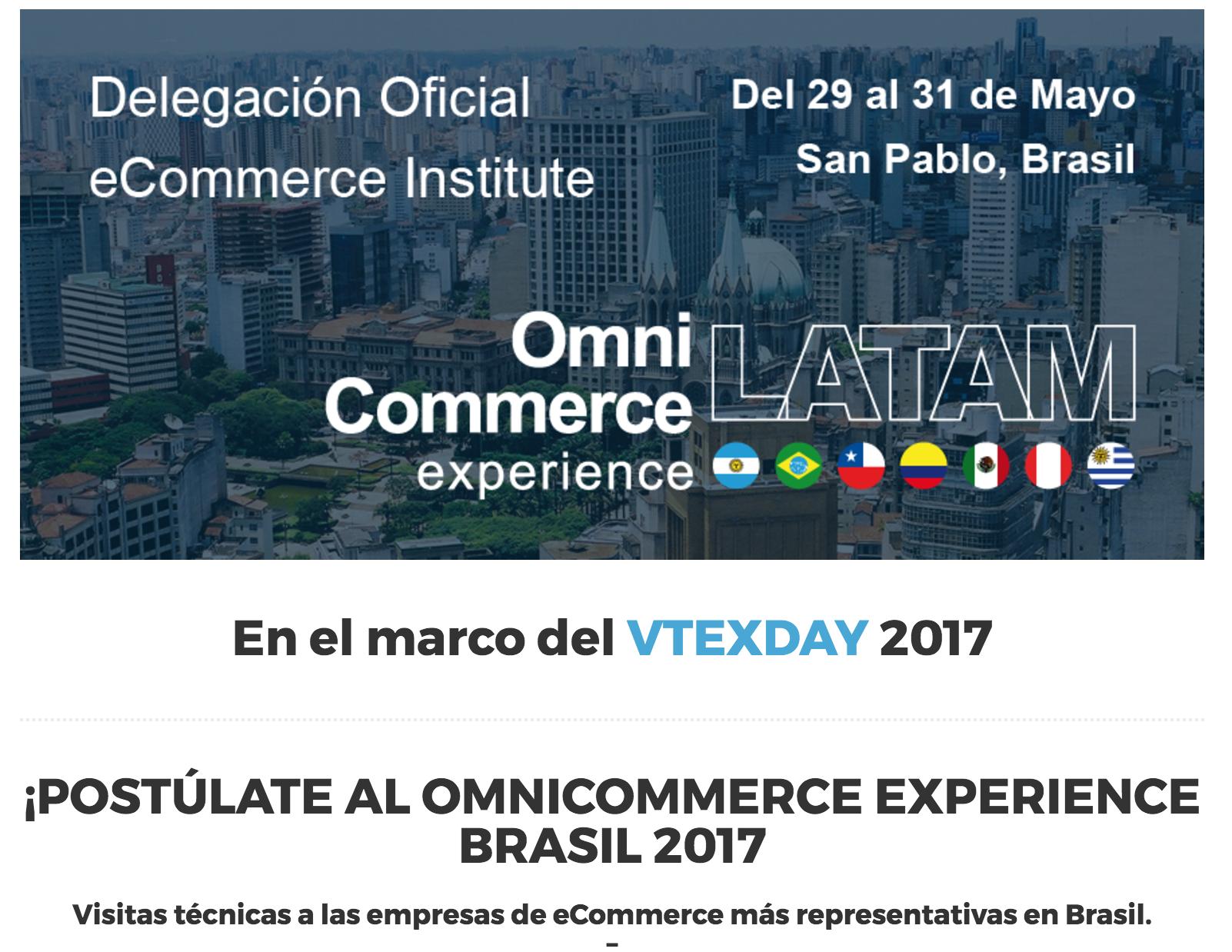 Omnicommerce Experience Brasil 2017 en el marco del VTEXDAY 2017