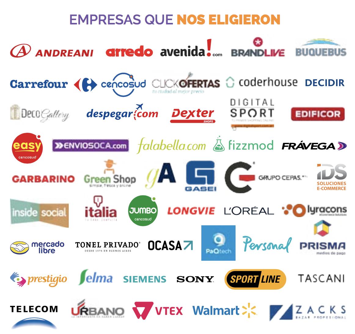 Empresas que confiaron en Porgrama Ejecutivo Retail eCommerce version 100% online